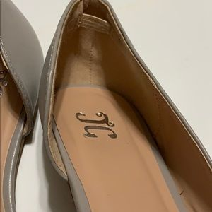 Journee Collection Shoes - Journee Collection gray pointy toe flats, size 7.5